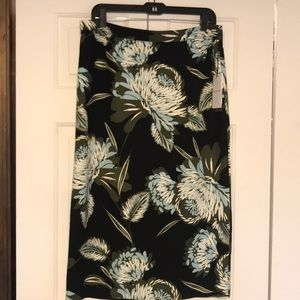 Who What Wear Size 14 Floral Pencil Skirt